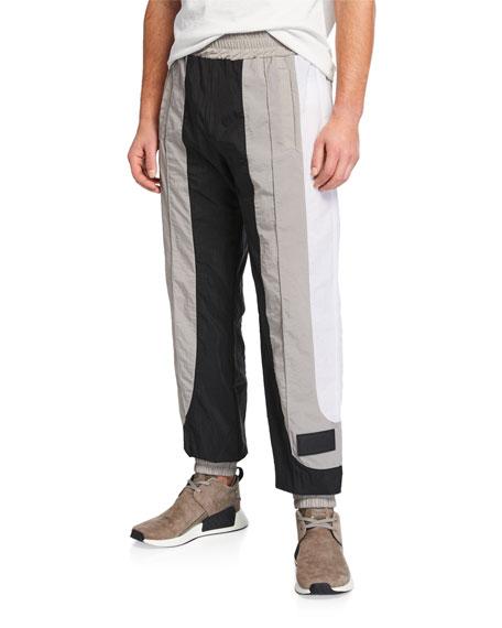 Palm Angels Pants MEN'S COLORBLOCK NYLON TRACK PANTS