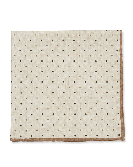 Brunello Cucinelli Reversible Silk Pocket Square