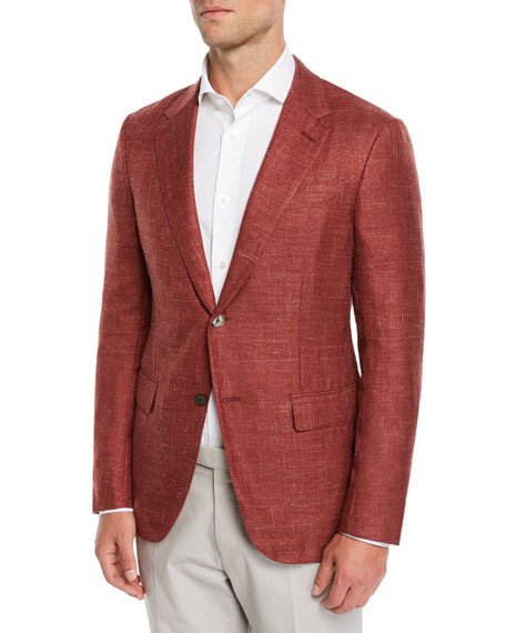 Ermenegildo Zegna Textured Cashmere-Blend Blazer