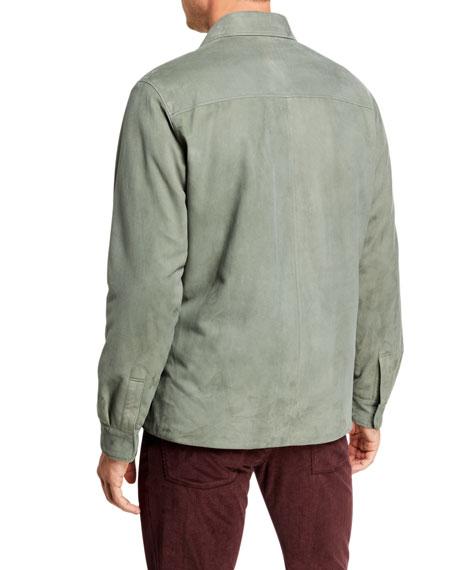 Loro Piana Men's Madison Suede Overshirt