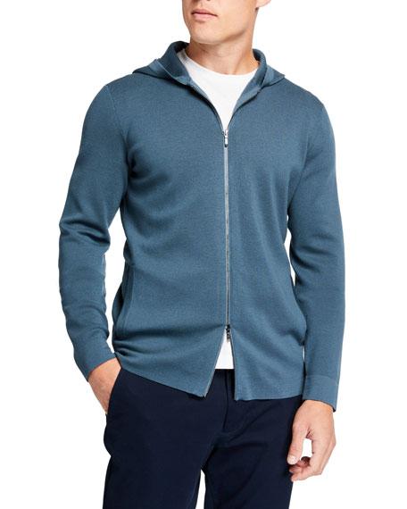 Loro Piana Men's Wish Wool Hooded Bomber Jacket