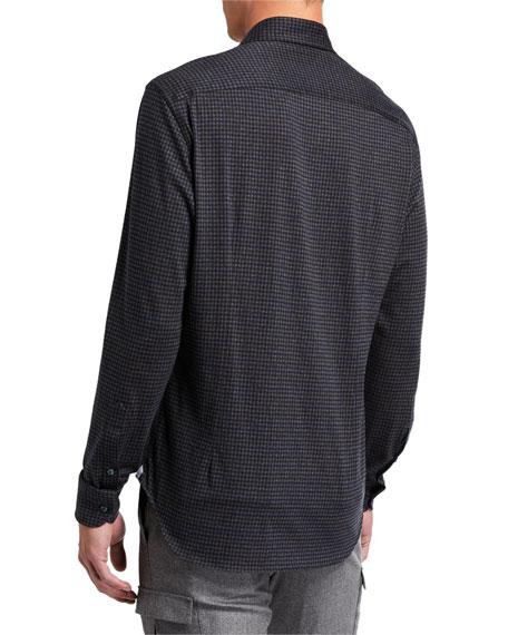 Loro Piana Men's Andrew Dark Check Sport Shirt