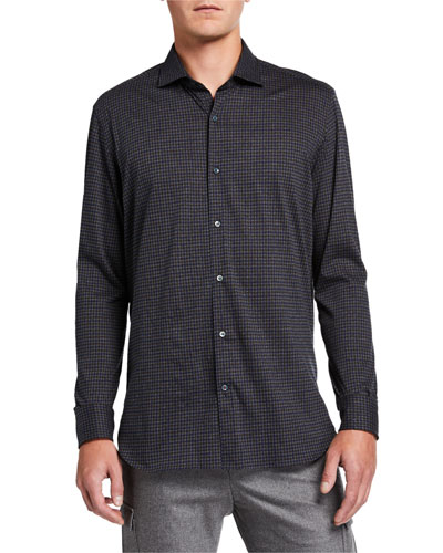 Men's Andrew Dark Check Sport Shirt