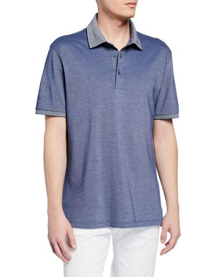 Ermenegildo Zegna T-shirts MEN'S COTTON JERSEY POLO SHIRT