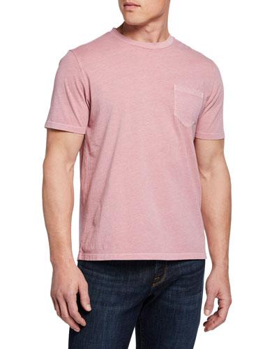 Men's Short-Sleeve Solid Pocket T-Shirt