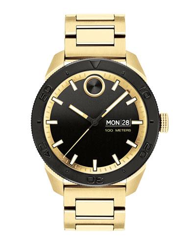 Men's Bold Sport Bracelet Watch  Gold