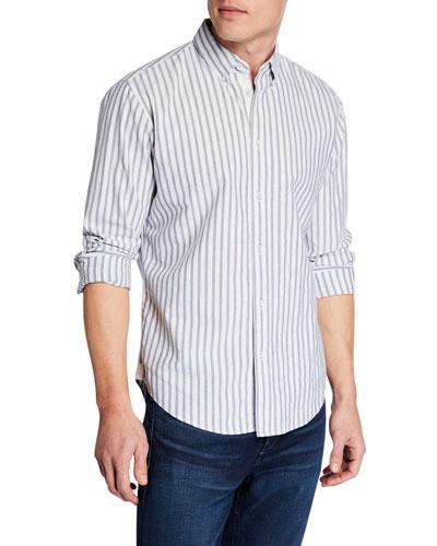 Men's Fit 2 Tomlin Oxford Striped Sport Shirt