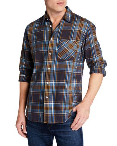 Men's Fit 3 Beach Plaid Cotton Shirt