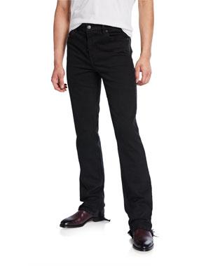 f558bcbf166994 Balenciaga Men's Fitted 5-Pocket Distressed-Hem Jeans