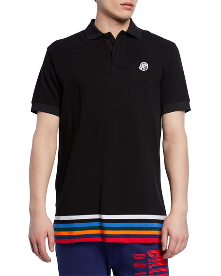 Billionaire Boys Club Men's Wonka Striped-Hem Cotton Pique Polo Shirt
