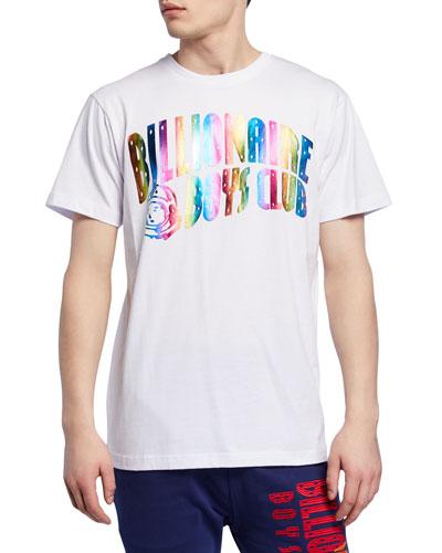 Men's Rainbow Foil Arch Logo Graphic T-Shirt