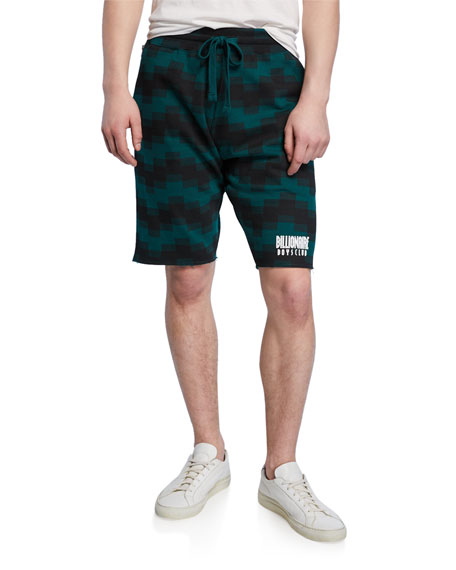Billionaire Boys Club Men's Pixel Pusher Drawstring French-Terry Shorts