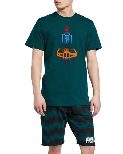 Men's Flocked Shuttle Graphic T-Shirt