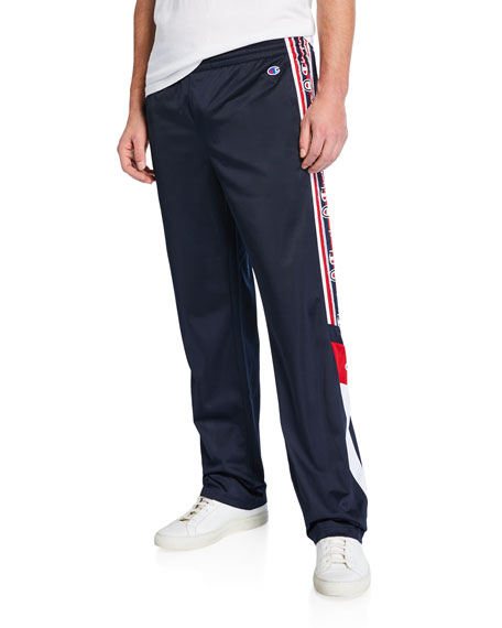 Champion Europe Men's Logo-Tape Track Pants