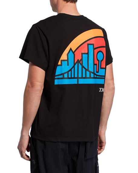 By Way of Dallas X Neiman Marcus Men's Dallas Skyline Graphic T-Shirt, Black