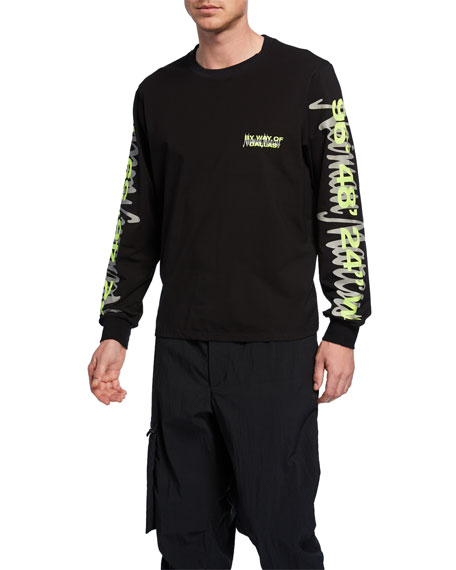 By Way of Dallas X Neiman Marcus Men's Logo Typographic Long-Sleeve T-Shirt