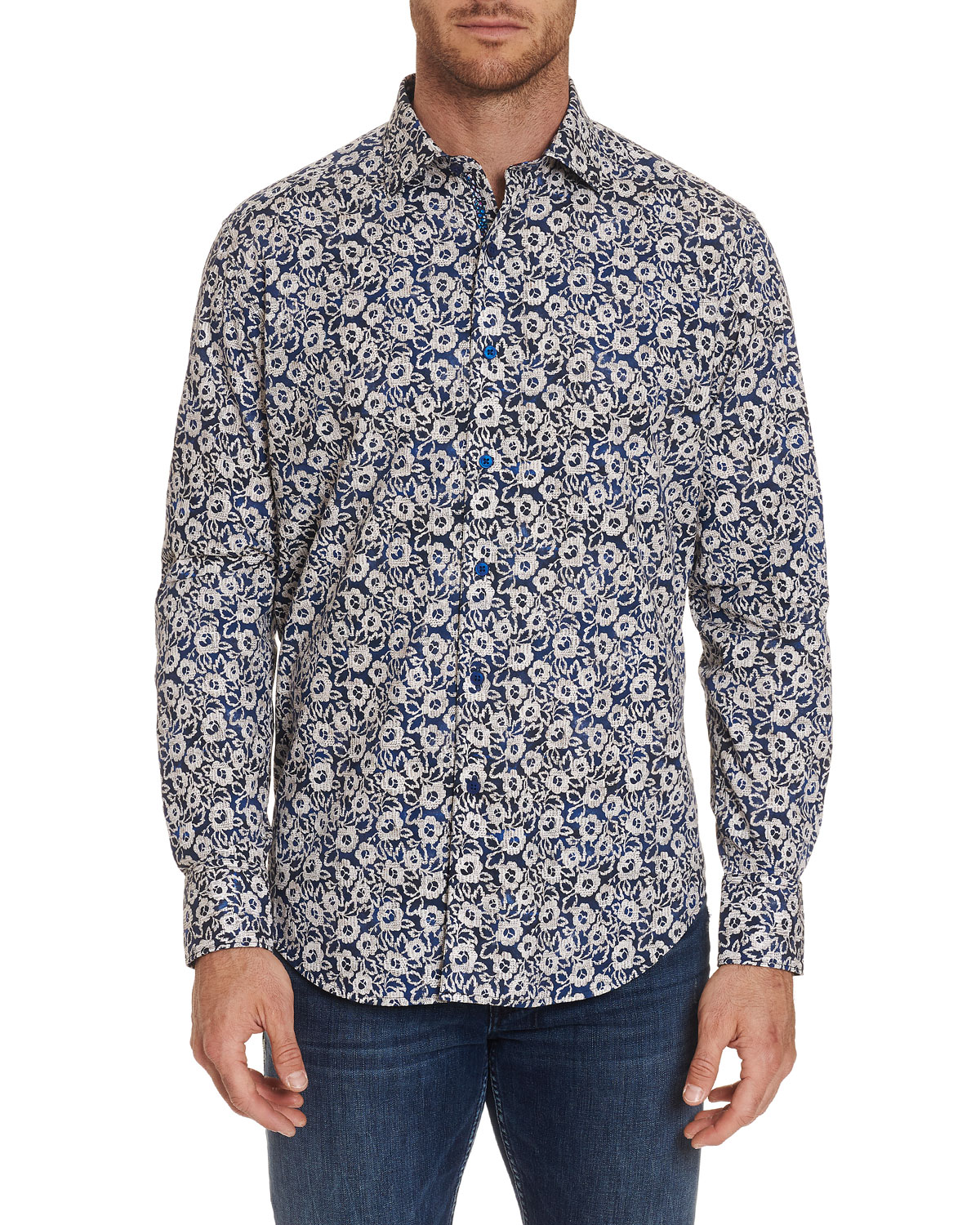 Robert Graham Men's Long-Sleeve Garnet Sport Shirt