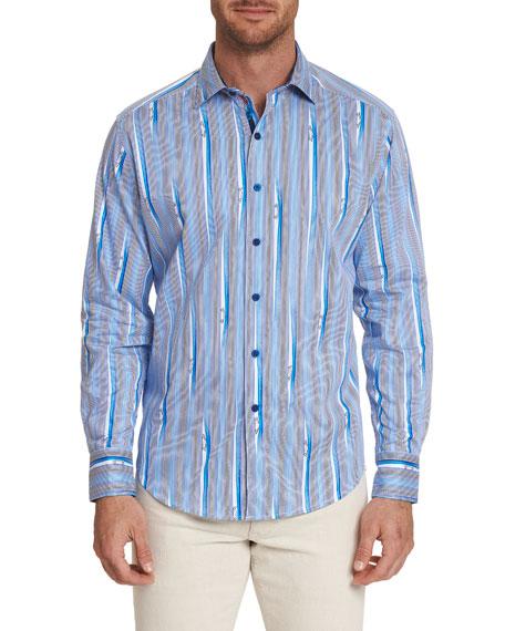 Robert Graham T-shirts MEN'S LONG-SLEEVE CRUISIN SPORT SHIRT