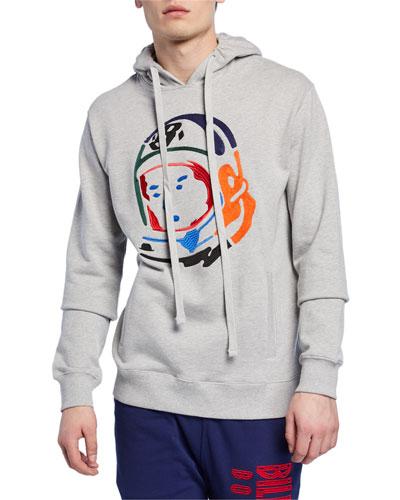 Men's Embroidered Helmet Hoodie