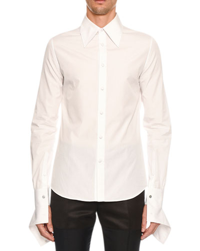 Men's Zipper-Cuff Sport Shirt