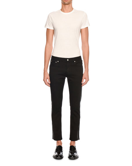 Alexander McQueen Men's Full Side-Zip Skinny Jeans