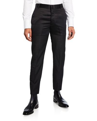 Men's Blocked Satin Ankle Pants