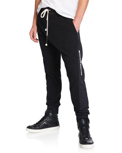 Men's Asymmetrical Seam Jogger Pants