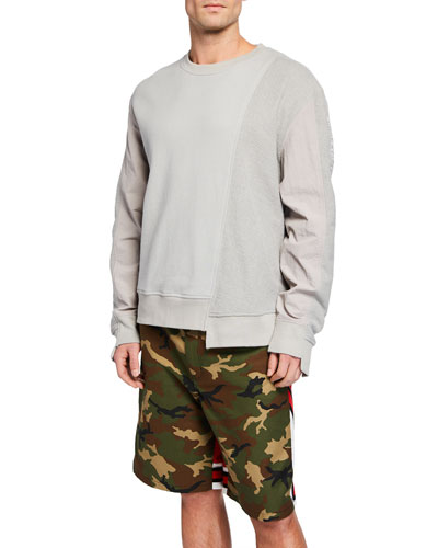 Men's Asymmetrical Seam Sweatshirt