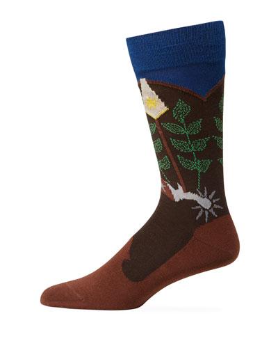 Men's Cowboy Spurs Socks