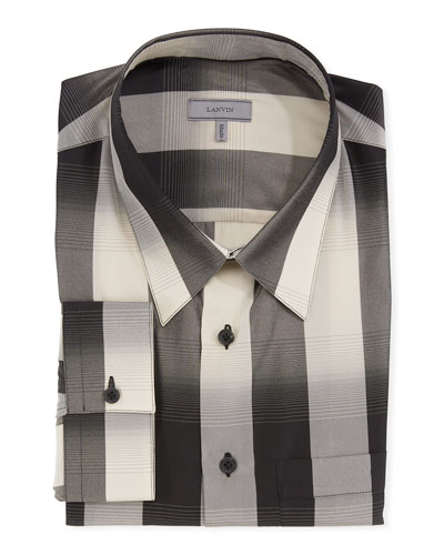 Men's Degrade Check Dress Shirt