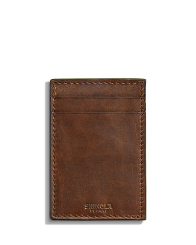 Men's Navigator Leather Card Case with Money Clip