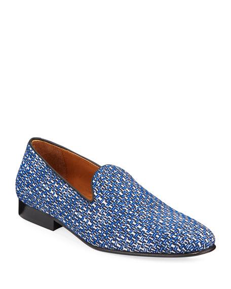 Donald J Pliner Loafers MEN'S JACQUARD SLIP-ON LOAFERS