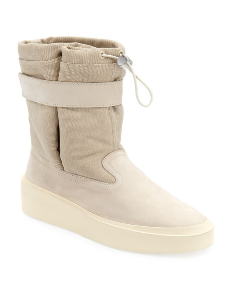 Fear of God Men's Ski Lounge Suede and Canvas Sneakers