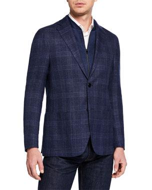 Corneliani Men's Windowpane ID Jacket