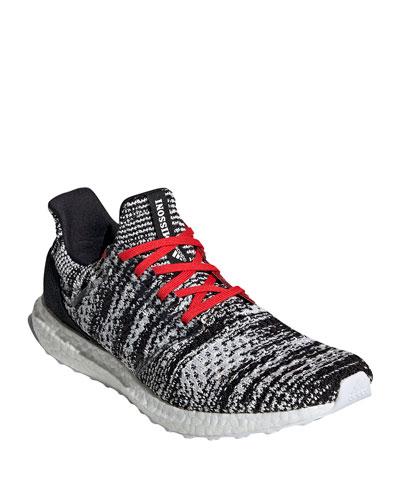 Men's UltraBOOST Running Sneaker, Black/Red
