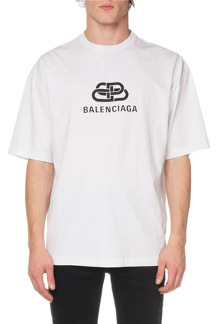 Balenciaga Men's BB Mode Regular T-Shirt