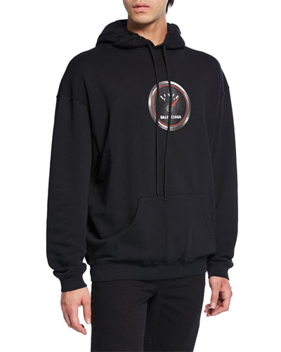 Men's Speed Logo-Applique Pullover Hoodie