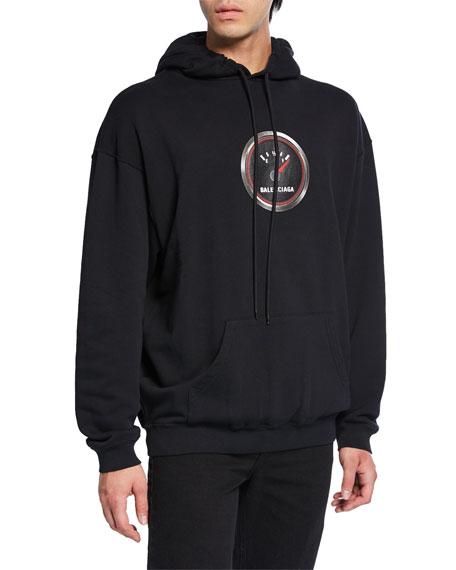 Balenciaga Men's Speed Logo-Applique Pullover Hoodie