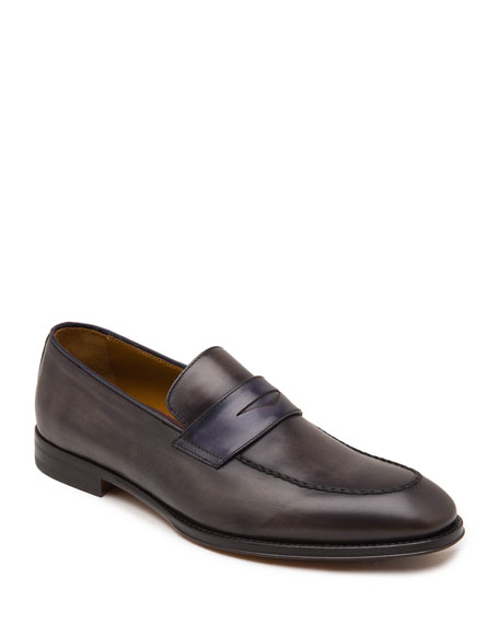 Bruno Magli Loafers Men's Fanetta Burnished Leather Penny Loafers