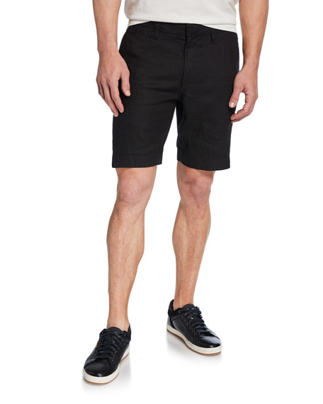 John Varvatos Star USA Men's Johnny Flat-Front Twill Shorts