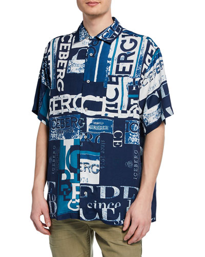 Men's Graphic Logo Short-Sleeve Sport Shirt