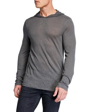 bd6746e193b John Varvatos Star USA Men s Jensen Linen-Blend Pullover Hoodie