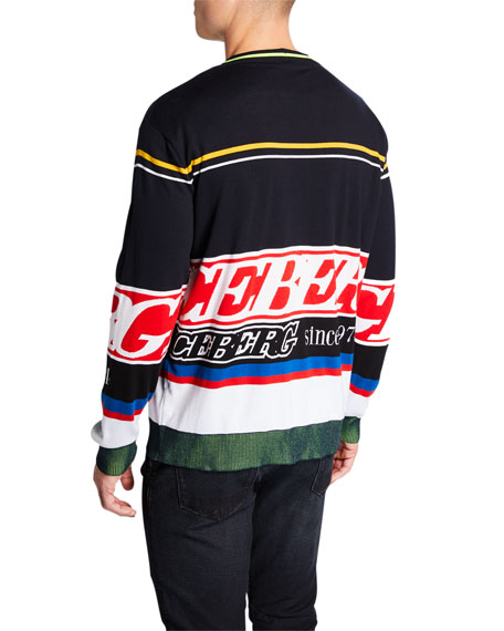 Iceberg Men's Logo Knit Crewneck Sweater