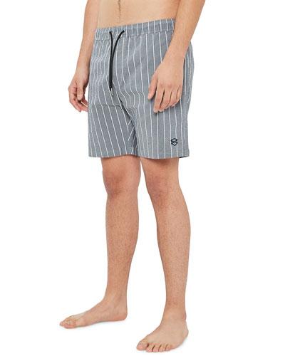 Men's Laguna Pinstriped Chambray Shorts