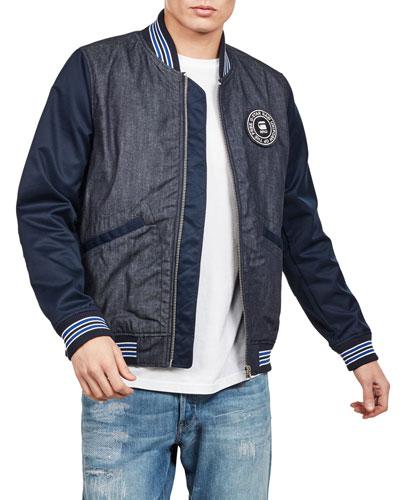 Men's Setscale Denim Bomber Jacket
