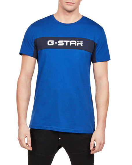 G-Star T-shirts MEN'S LOGO TYPOGRAPHIC T-SHIRT