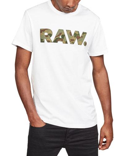 Men's Camo Logo Typographic T-Shirt