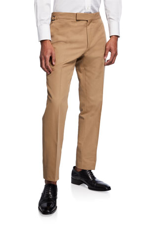 TOM FORD Men's Shelton Tapered Twill Pants