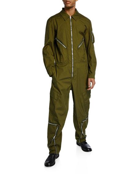 Helmut Lang Suits Men's Cotton Twill Aviator Suit
