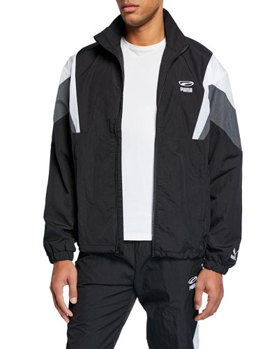 Men's 90s Retro Colorblock Track Jacket
